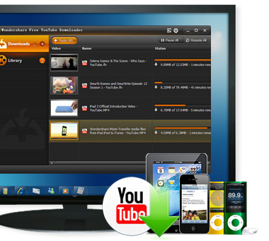How to use wondersharefree youtube downloader.